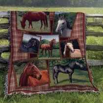 Horsing Around Tapestry Throw