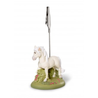 Nici, white horse photo holder