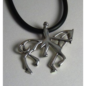 Dressage Rider & Horse necklace