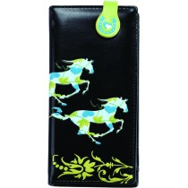 Black Galloping Horse Wallet