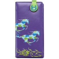 Purple Galloping Horse Wallet