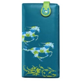 Teal Galloping Horse Wallet