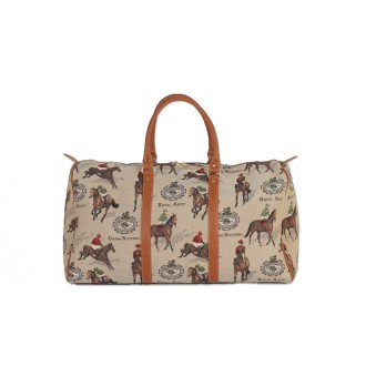 Overnight bag, Racing print.