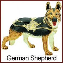 German Shepherd trinket box