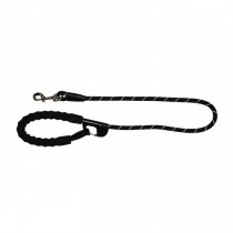 Snap and stay dog leash Black