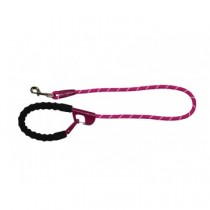 Snap and stay dog leash, Fuchsia