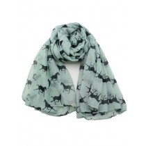 Horse scarf, small print, sage