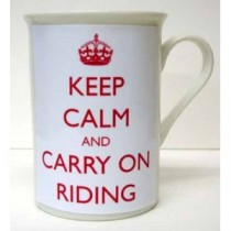 Keep Calm and Carry On Riding mug