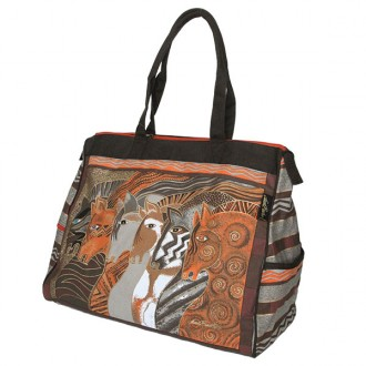 Laurel Burch Travel Bag 'Moroccan Mares'