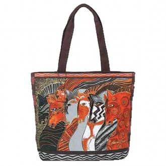 Laurel Burch Shoulder Tote 'Moroccan Mares'