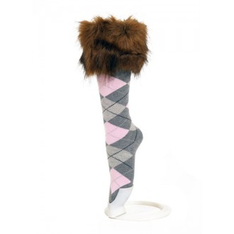 Inner Booti 'Tanuka' faux fur trim socks