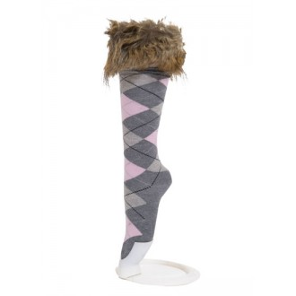 Inner Booti faux fox fur trim socks