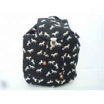 Black Horse print backpack