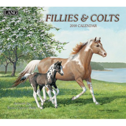 Lang 2018 Fillies and Colts wall calendar