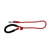 Snap and Stay dog leash Red
