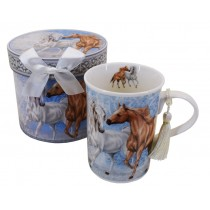 Horses Galloping China mug