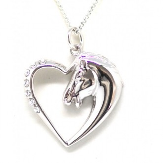 Horse Head Heart necklace