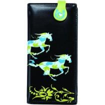 Black Galloping Horse Wallet