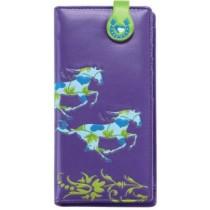 Purple Galloping Horse Wallet