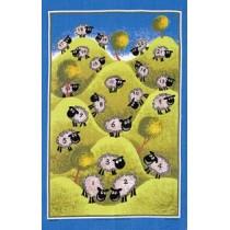 Counting Sheep Linen Tea Towel